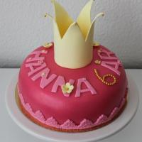 Tårta med prinsesskrona