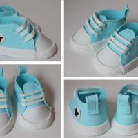 Blå Baby Converse