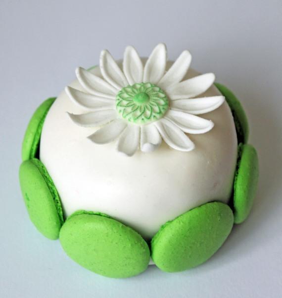 Tårta med Macarons