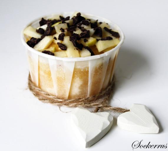 Recept: Vaniljmuffins med Äpplen, Mörk Choklad och Salt Karamellsås