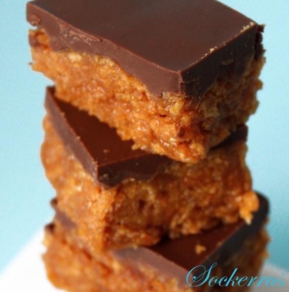 Snickerskaka + Recept