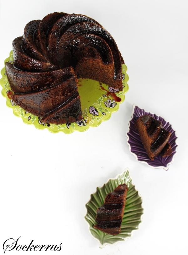 Chokladkaka med körsbär och saltlakrits