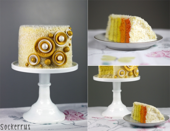 ombre cake yellow orange