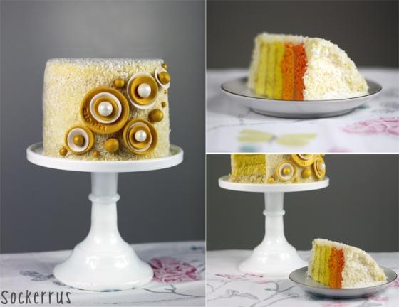 ombre cake yellow orange