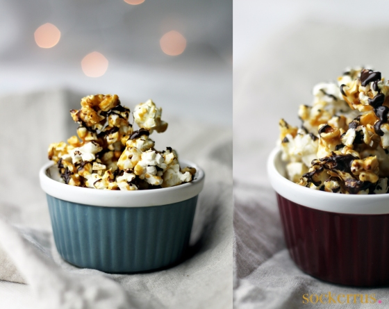 Caramel chocolate popcorn by sockerrus.se
