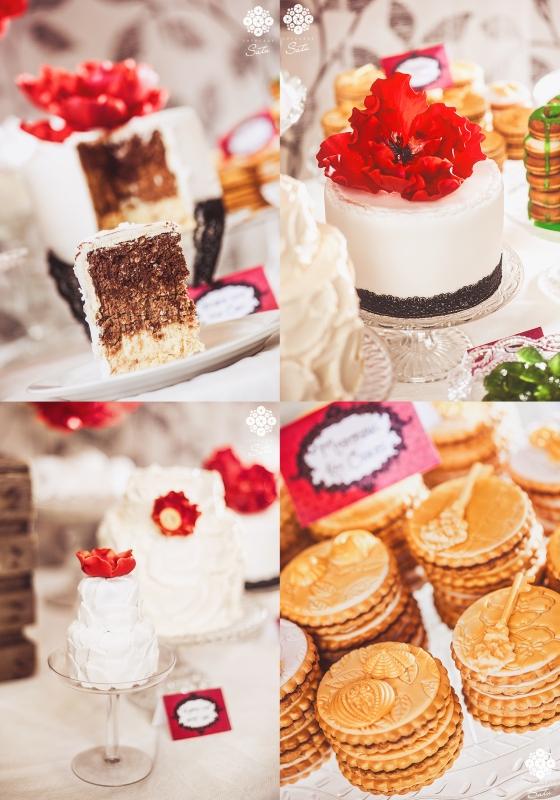 Fairytale dessert table cakes pom poms chokladbollstårta fotograf satu made by sockerrus