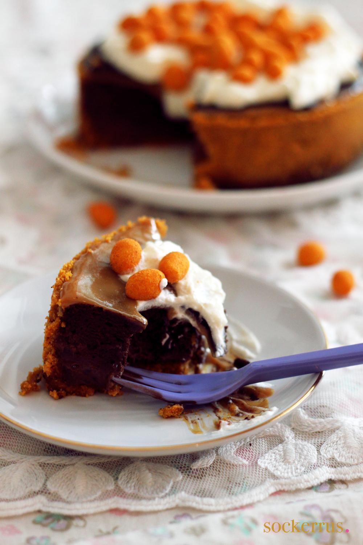 chokladcheesecake chili jordnötter dulce de leche made by sockerrus
