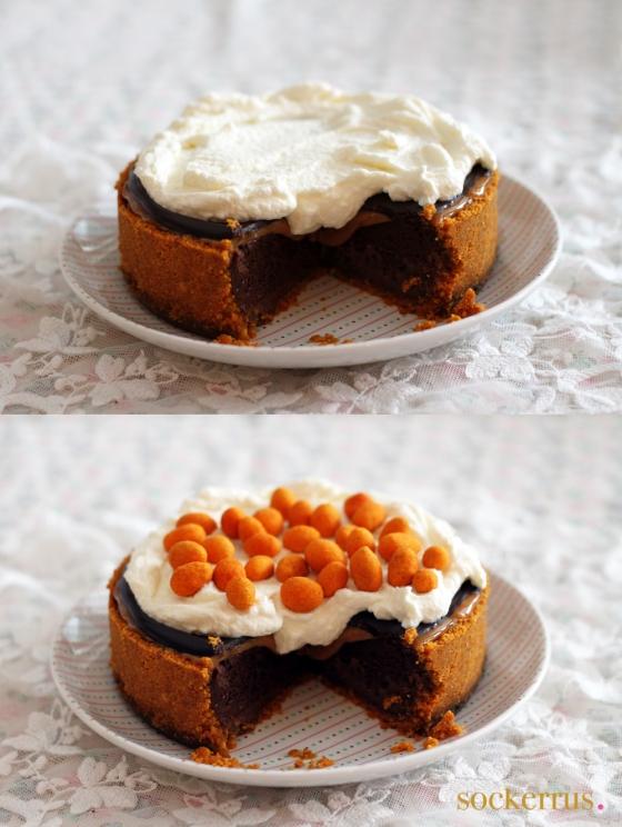chokladcheesecake med chilinötter och kolakräm