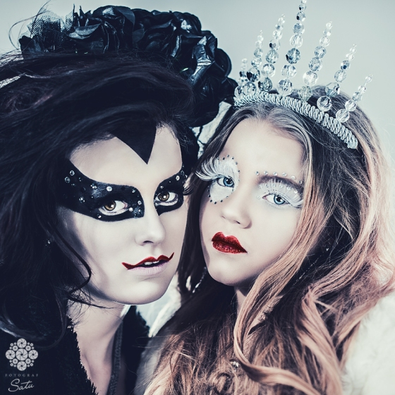 Fotograf Satu maskerad evil queen snow queen make up