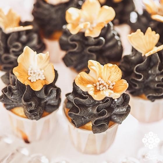 cupcakes black gold fotograf satu made by sockerrus